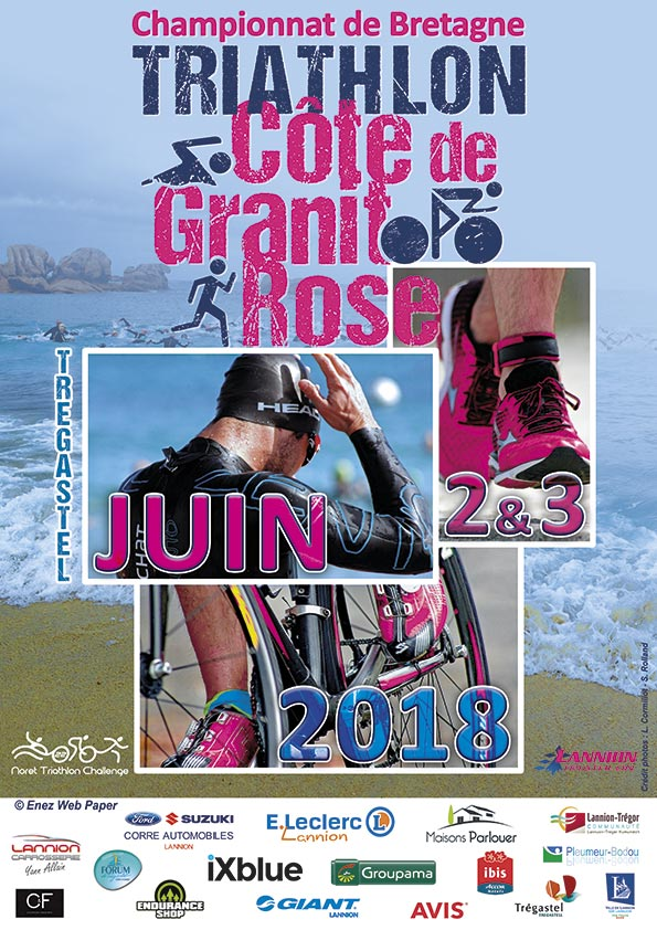 Affiche Triathlon Côte de Granit Rose - Enez Web Paper