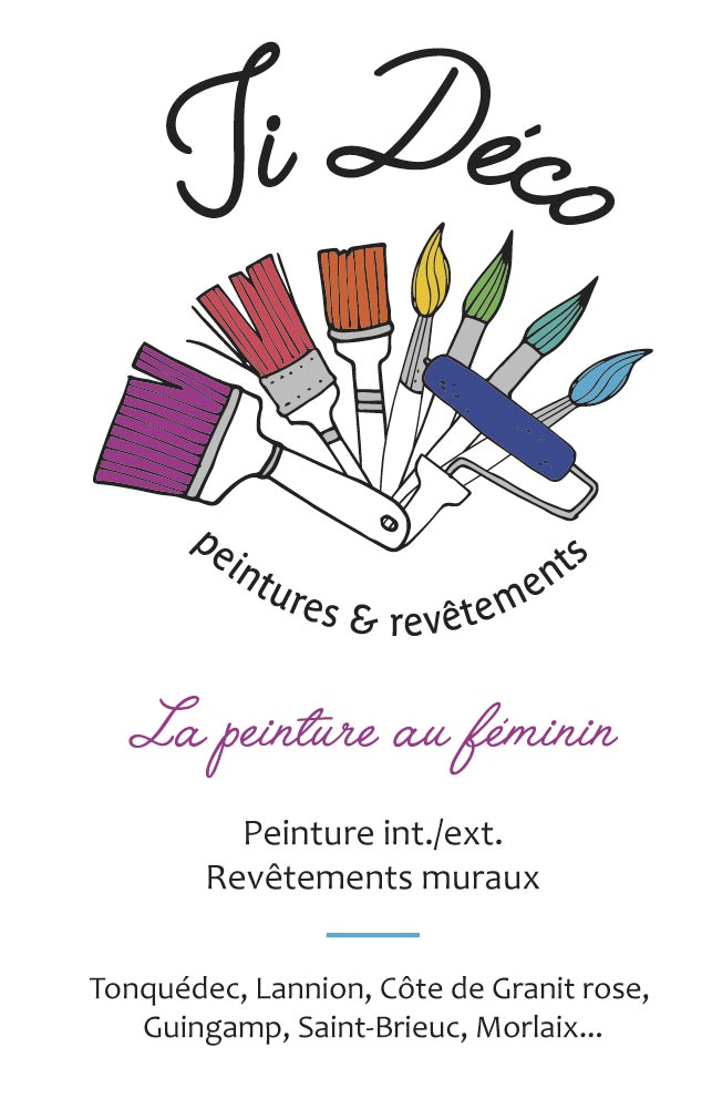 Carte de visite Ti Déco Peinture Tonquédec - Enez Web Paper