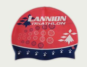 Graphisme pour un bonnet de bain – Lannion Triathlon