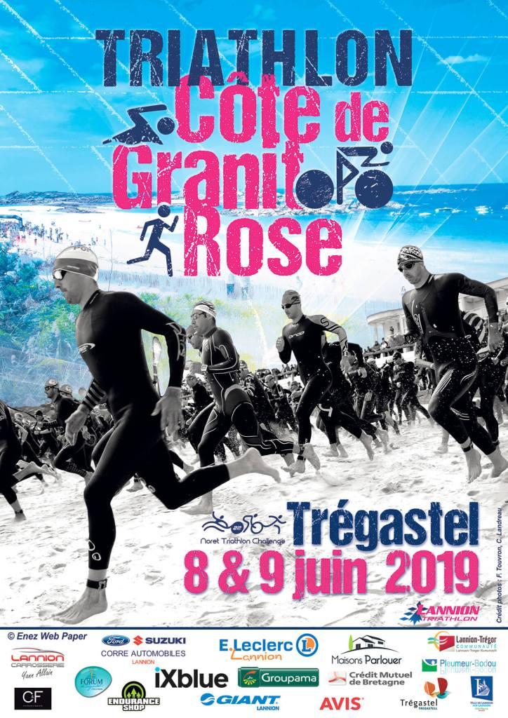 Affiche Triathlon Côte de Granit Rose 2019
