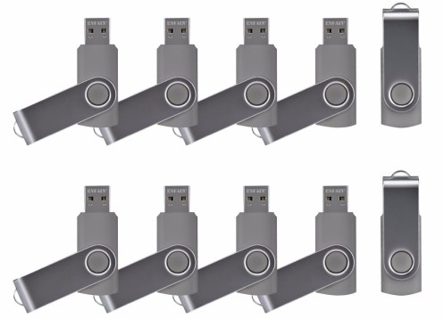 ENFAIN USB FLASH DRIVES GRAY 10 PACK