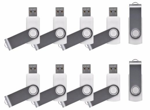 ENFAIN USB PENDRIVES WHITE 10 PACK