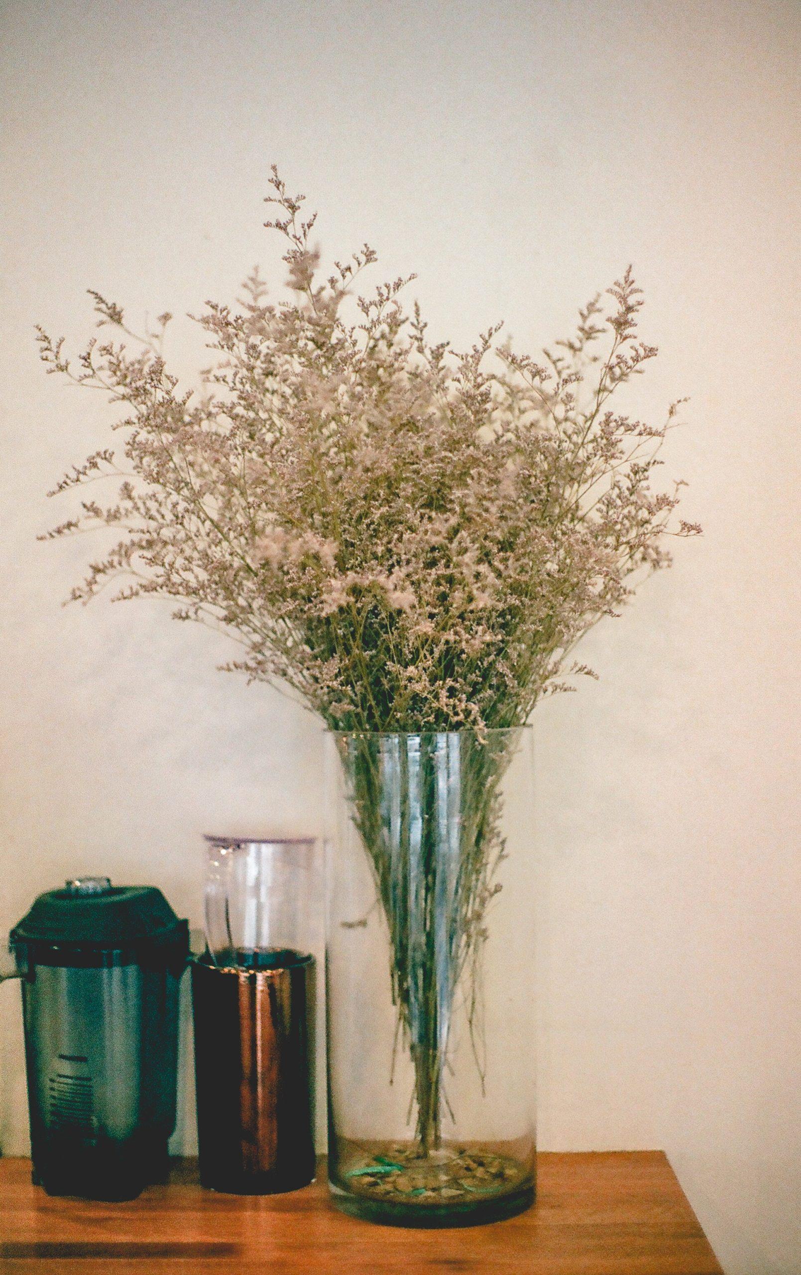 Les fleurs séchées sont un excellent moyen de garder un peu de nature chez soi.