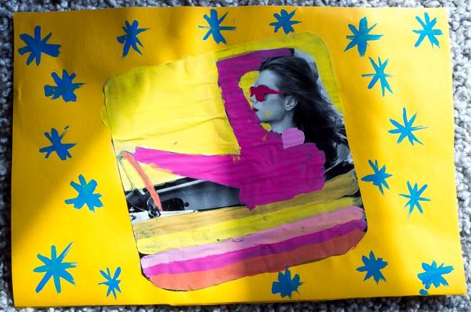 Coloriage de magazine par la classe CM2 de l'École bilingue de Haute Savoie