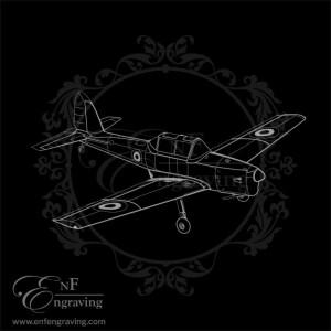 Royal Air Force Chipmunk Aircraft Engraving Artwork