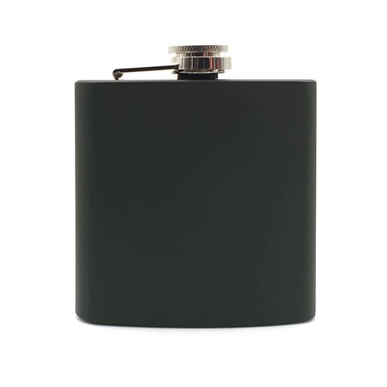 Green 6oz Hip Flask