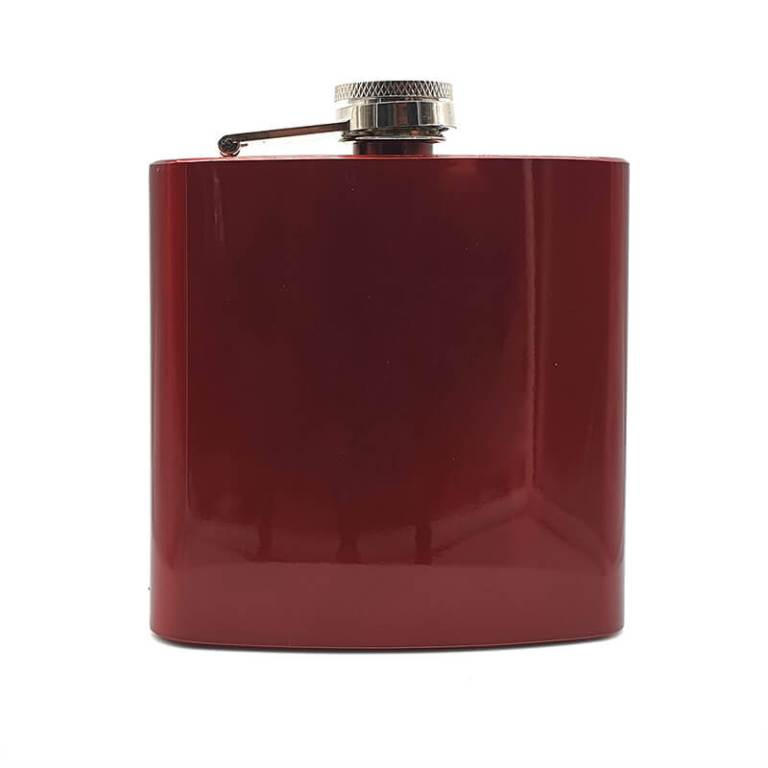 Red 6oz Hip Flask