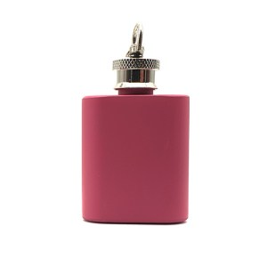 1oz Pink Keyring Flask