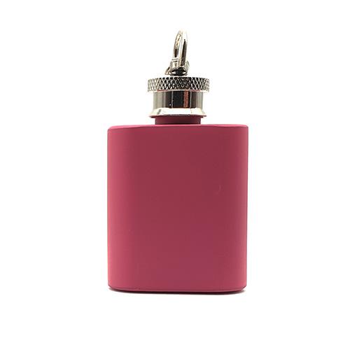 1oz Pink Keyring Flask