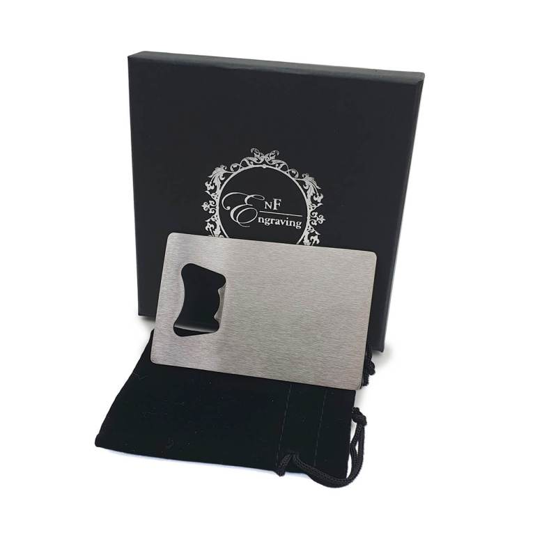 Steel Bottle Opener with EnF Engraving Gift Box