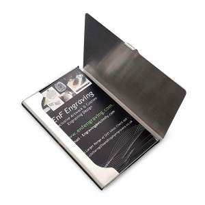 Perosnalised Steel Card Holder