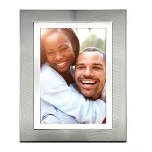 Brushed SIlver Photo Picture Frame