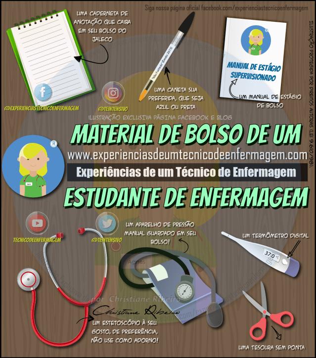 O Estágio de Enfermagem e seu material de bolso