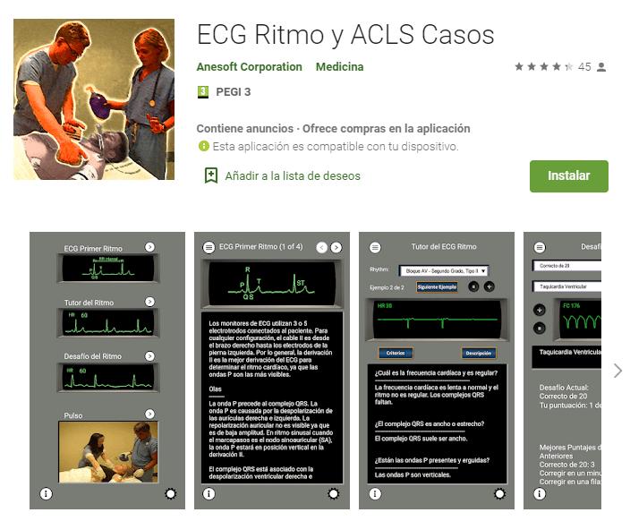 ECG Ritmo y ACLS casos
