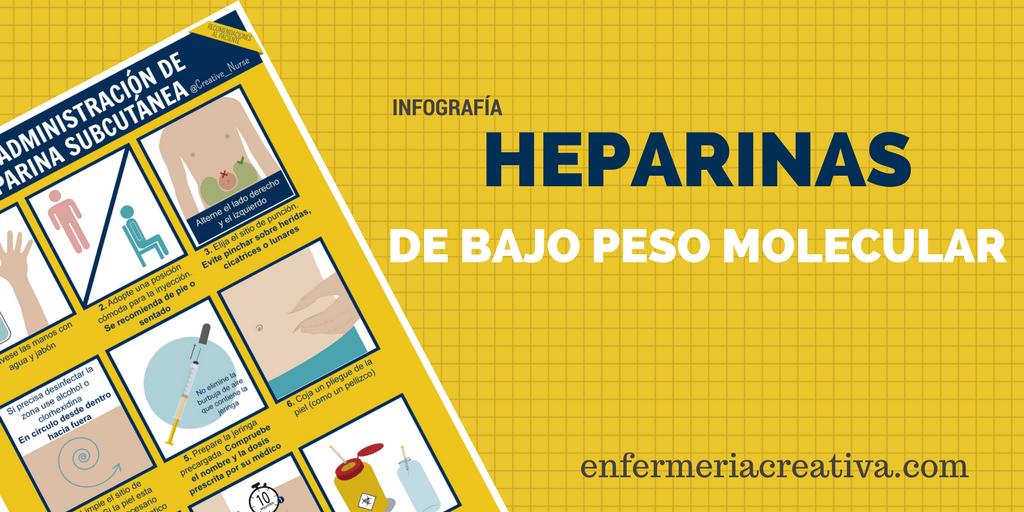 ¿Cómo me pincho la heparina?