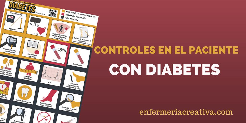 Controles en el paciente con Diabetes