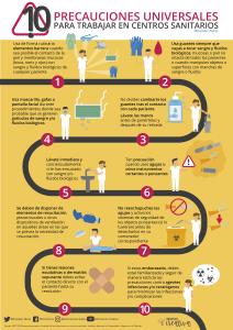 Precauciones universales para trabajar en centros sanitarios