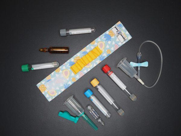 pulsera para sacar analíticas y meter los tubos enfermeria