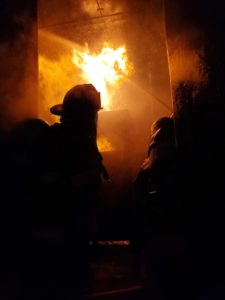 EFD Firefighters fight training fire