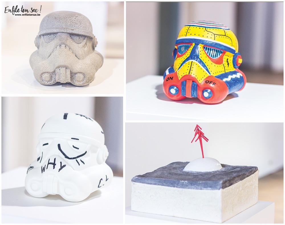 artistes belges Star Wars Legion Belgique, quand les artistes belges réinterprètent le casque de Stormtrooper