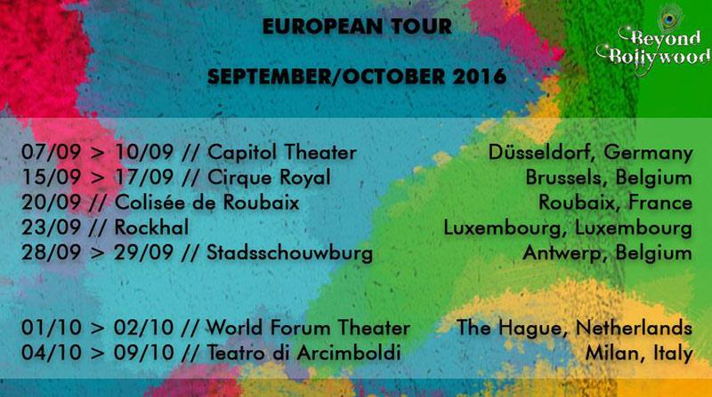beyond bollywood europe dates Beyond Bollywood une comédie musicale haute en couleurs à Bruxelles et Anvers
