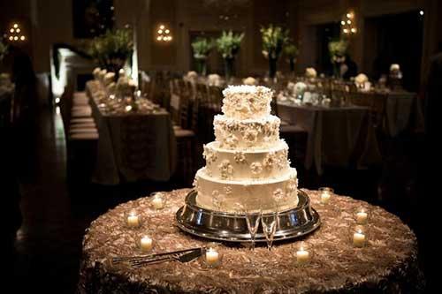 GUIA Decorao para Mesa do Bolo de Casamento
