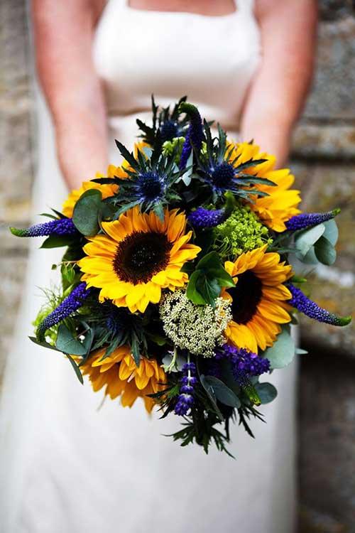 Decorao de Casamento Azul e Amarelo Fotos  Dicas