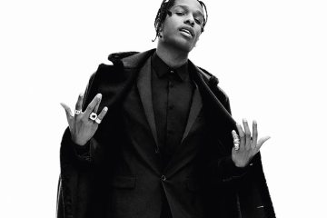Fashion men: holiday style all black- Asap Rocky - Enfnts Terribles