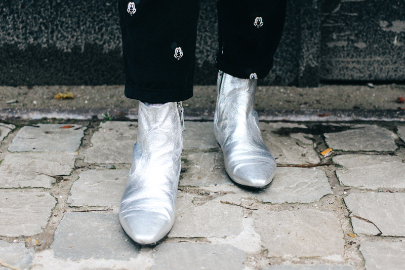 LOOK XII: Catherine wearing silver Zara boots