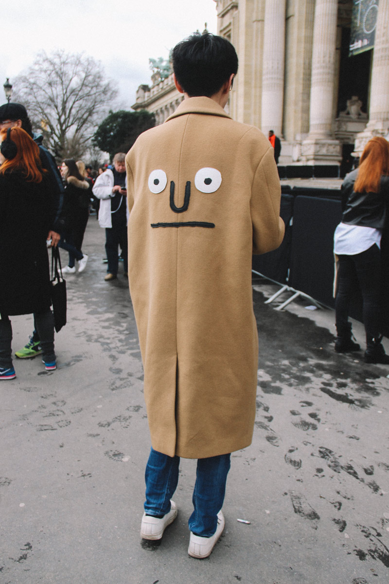 LOOK XXIV: Camel coat ( Paris street style Fall/Winter 2017)