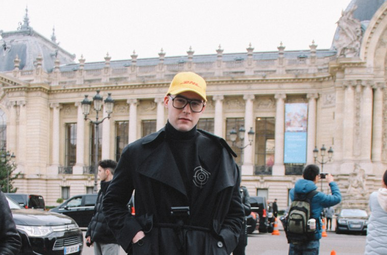 LOOK XXV: All Black Look Before the Chanel Show at Grand Palais, Paris - PFW 17 street style