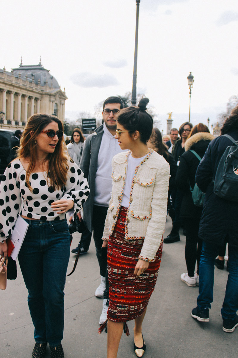 The streets of Paris: Before the Chanel show at Grand Palais ( Paris Fashion Week F/W 2017