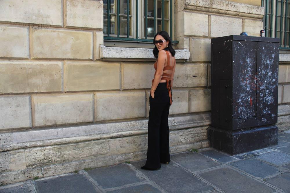 LOOK XLIII: Nicole Warne wearing Victoria Beckham Top in Paris