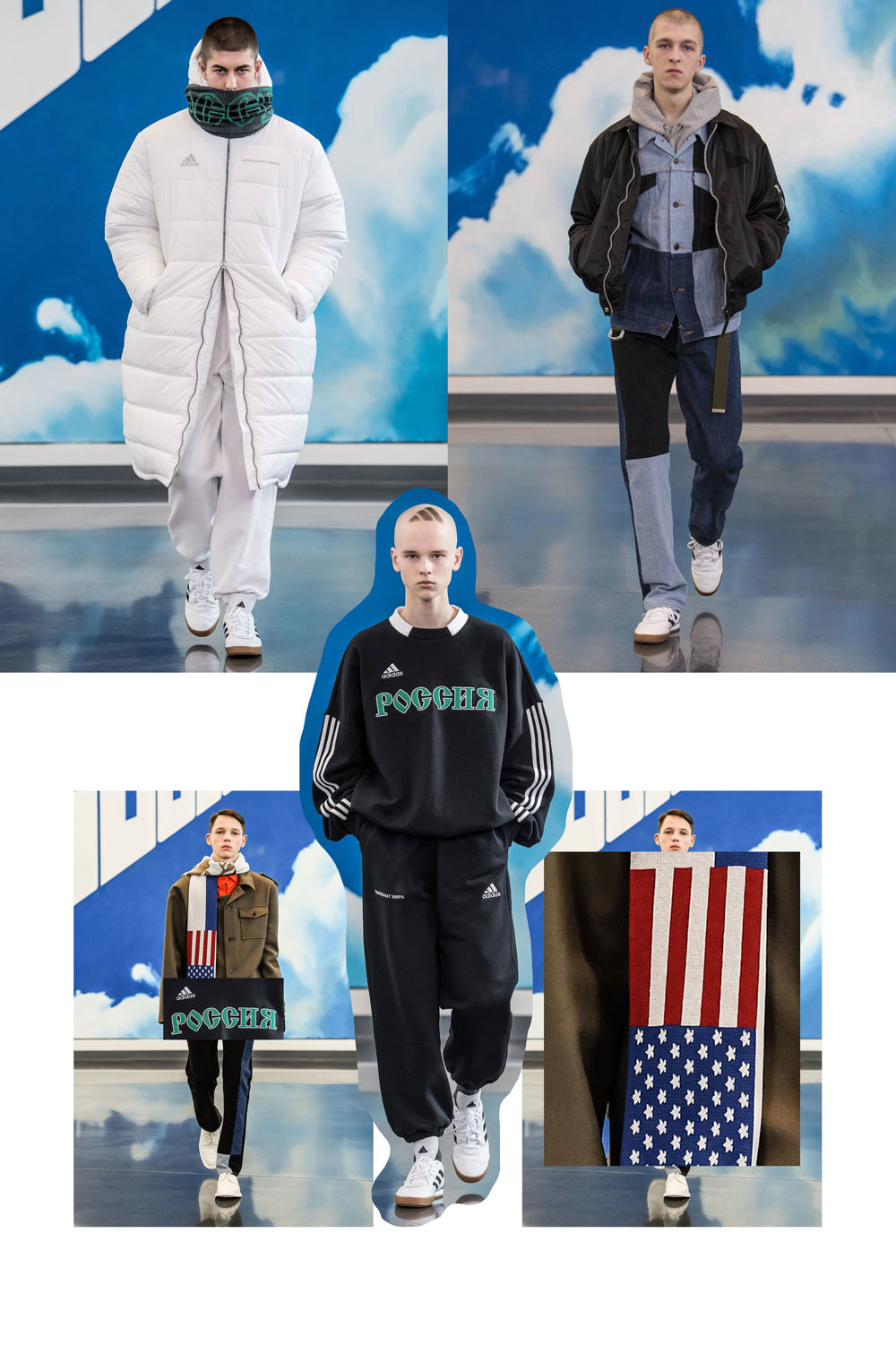 Gosha Rubchinskiy FW18 Silhouettes From Milan Fashion Week