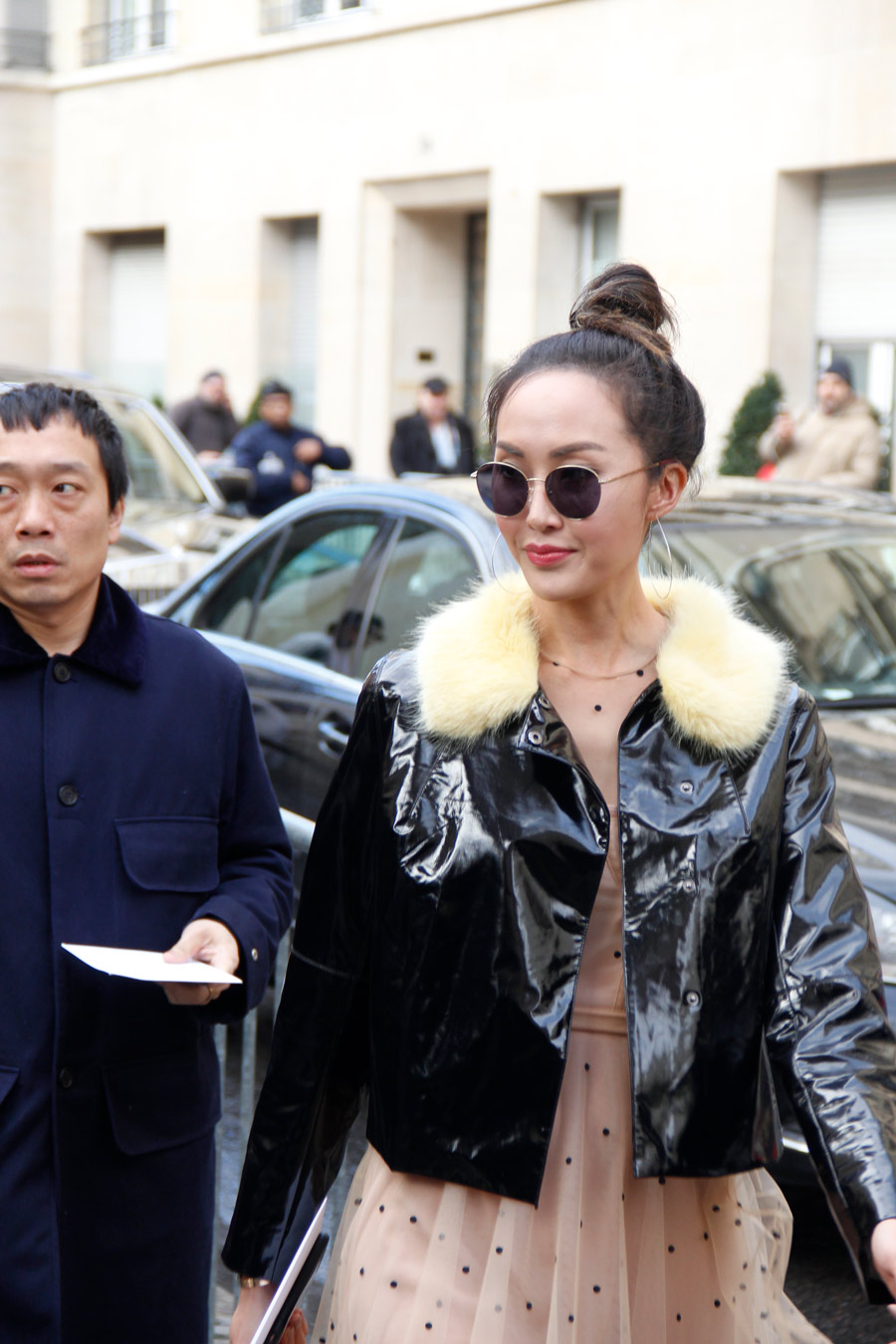 Chriselle Lim at Paris Couture Week in Dior
