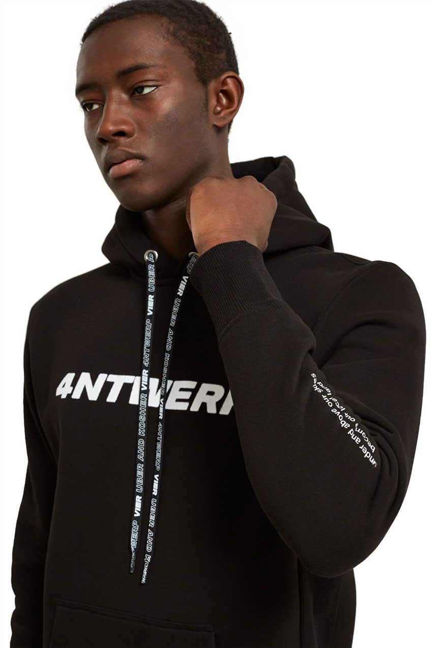 Vier Antwerp xUber and Kosher hoodie