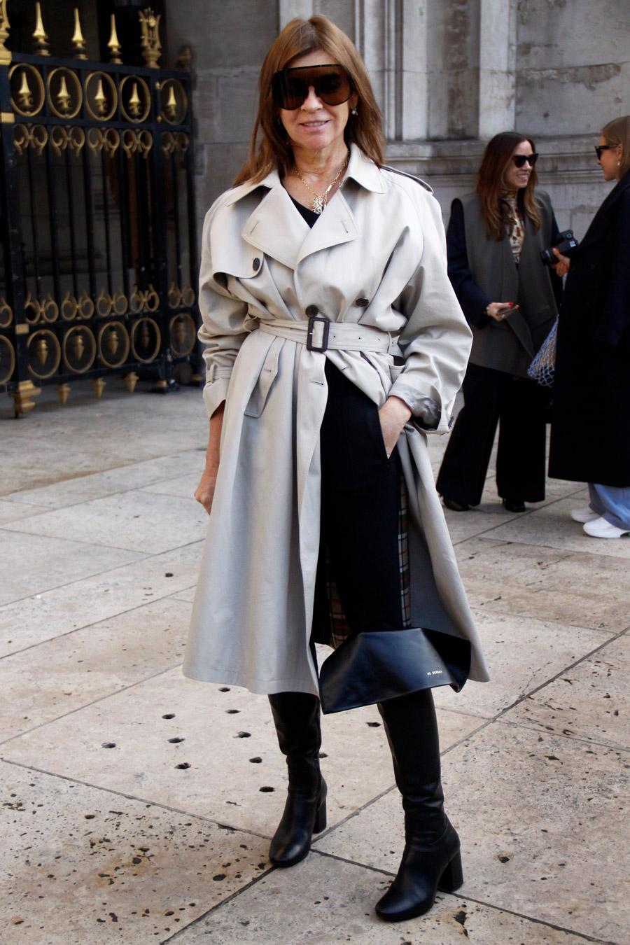 Carine Roitfeld Street Style PFW Fall 2018