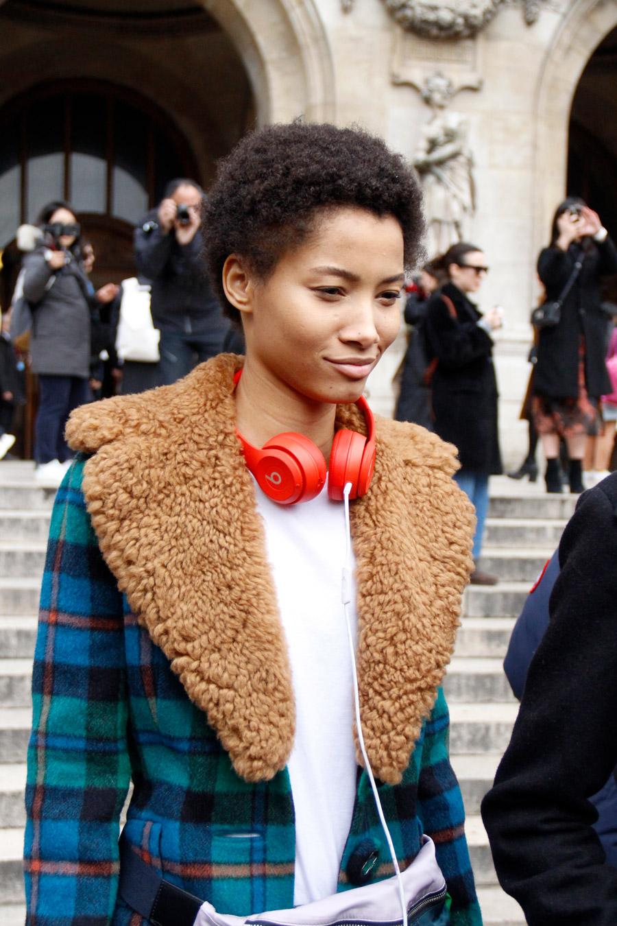Lineisy Montero at Paris Fashion Week Fall 2018