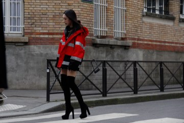 Look LVII - Firefighters jacket (Paris Street Style Fall 2018) - ENFNTS TERRIBLES Magazine
