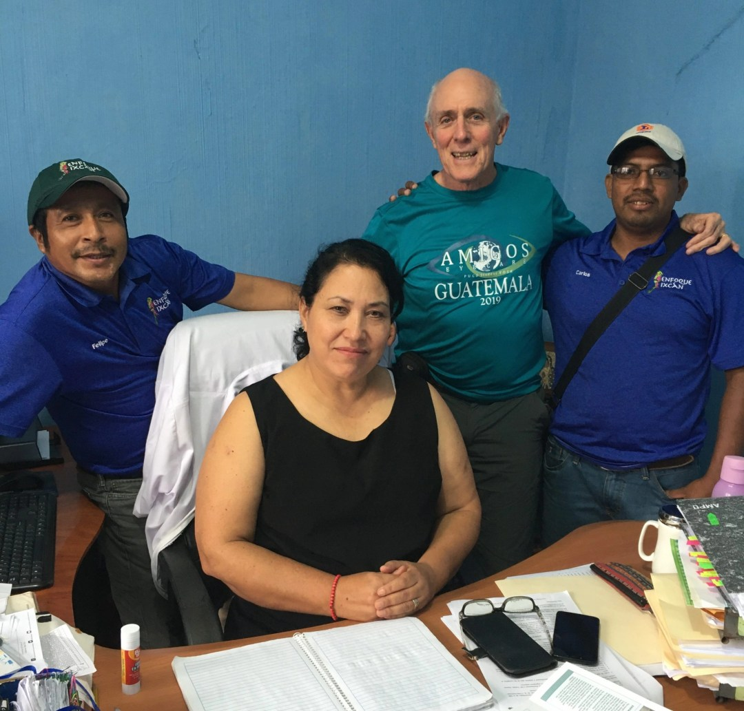 Director Aracely Briones with Felipe, Scott and Carlos