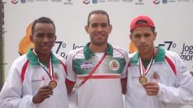 Niltinho, o diretor de Esportes Rodrigo Santos e Rafael