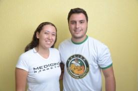 os presidentes das atléticas responsáveis - Anna Carolina de Albuquerque Belém (Facisb) e Nicholas Krauniski (Unifeb)