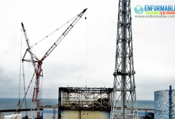 A view of dust sampling at the upper part of the Reactor Building of Unit 1 at Fukushima Daiichi Nuclear Power Station (pictured on September 11, 2011)