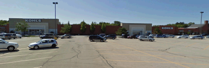 The parking lot of the Kohl's department store in Woodridge, Illinois.