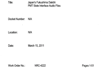 March 15th, 2011 - Navy tried to get dosimeters for all sailors on USS Ronald Reagan after Fukushima disaster