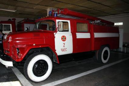 One of the fire trucks at the Chernobyl nuclear power plant.