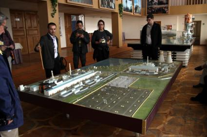Model of the Chernobyl nuclear power plant in the ABK-1 building.