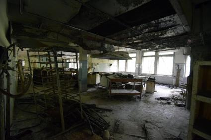 A view of the kitchen in the Number 3 school.