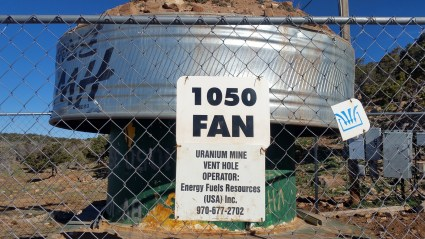 A radon ventilation shaft at an abandoned uranium mine near Moab, Utah.