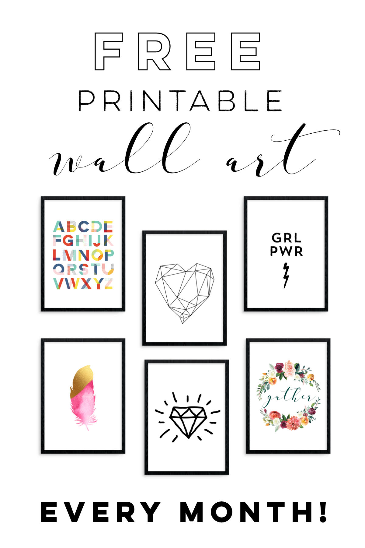 Faqs About Printable Decor And The Monthly Free Printable